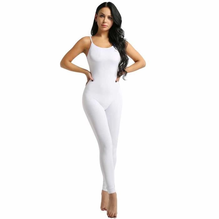 Justaucorps Danse Body Femme Lingerie Salopette Bodystocking Collant  Sculptants Sous-vêtement Combinaison Babydoll Yoga S-XL a37141da15e