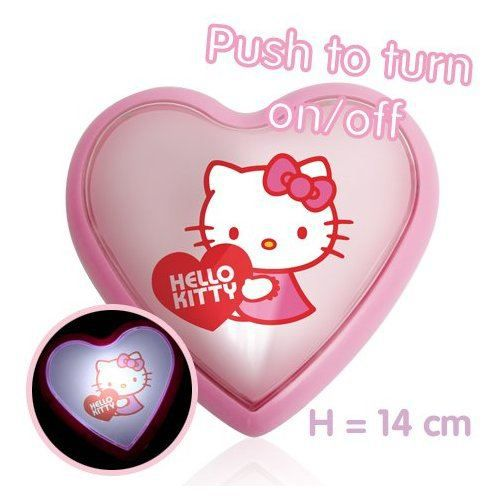 Veilleuse led coeur hello kitty blanc achat vente veilleuse b b 3700235428613 cdiscount - Hello kitty coeur ...