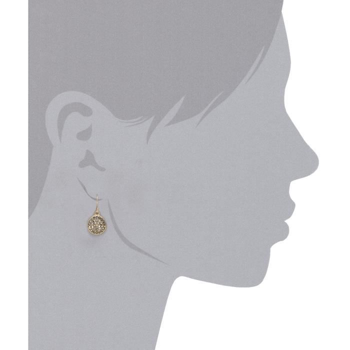 Kenneth Cole New York Gold Disc Pave Drop Earrings XKORE