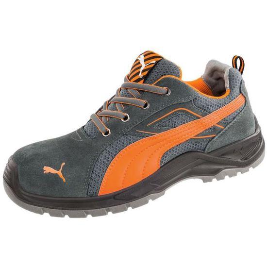 Chaussure de sécurité basse Puma Omni Orange Low S1P SRC GrisOrange