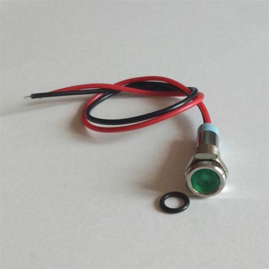 DEL Rouge pré-câblés 8 mm Panneau indicateur 220 V