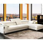 canap sofa divan canap dangle cuir blanc design pieds chrom - Pied De Canape Design