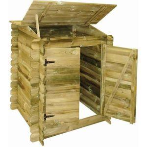 LOCAL POUR POMPE  UBBINK Coffre de filtration en bois pour piscine