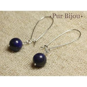 Belle naturel égyptien Lapis lazuli pierres précieuses//silver Hook Dangle Boucles d/'oreilles AA