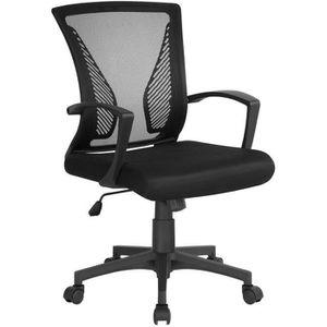 CHAISE DE BUREAU Yaheetech Chaise de Bureau Fauteuil Ordinateur Tis