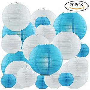 LANTERNE FANTAISIE 20pcs Lanternes en Papier,Lanterns Décoratives Fol