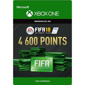 EXTENSION - CODE FIFA 18 Ultimate Team: 4600 Points pour Xbox One