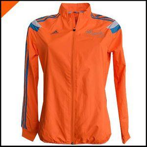 COUPE-VENT DE SPORT Adidas Jacket Femme Marathon LONDON 2014 Orange D8