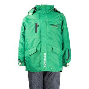 BLOUSON DE SKI Veste de ski verte garçon STAN Northland