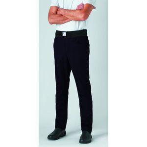 PANTALON PRO Pantalon de cuisine mixte slim ceinture éponge Rob
