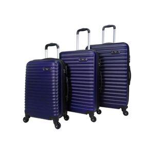 SET DE VALISES Set de 3 valises 4 roues rigide Bleu Marine - Clas