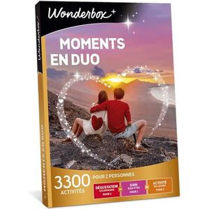 COFFRET THÉMATIQUE Box cadeau - Moments en duo - Wonderbox - 3300 act