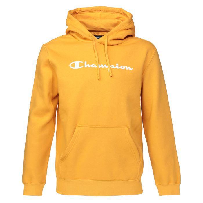 hoodie champion homme jaune