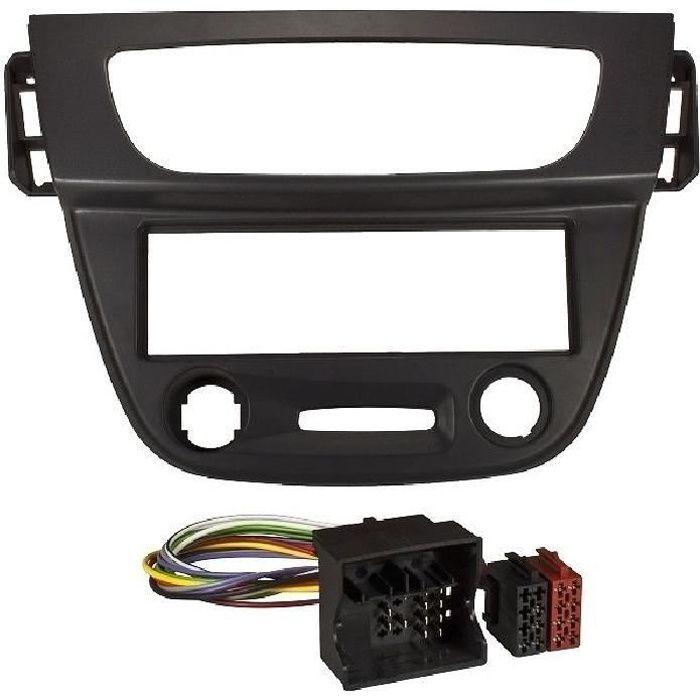 Kit Adaptateur Autoradio 1Din Renault Megane 3 ap08 - Noir + ISO - KITFAC270.1 - ADNAuto