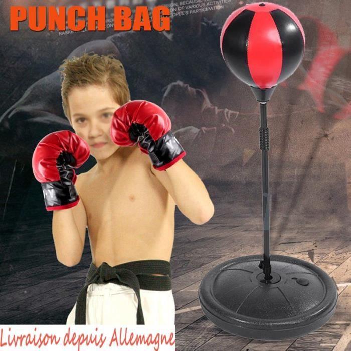 Punching Ball avec gants de boxe pour enfant entraînement de boxe Sac De Frappe