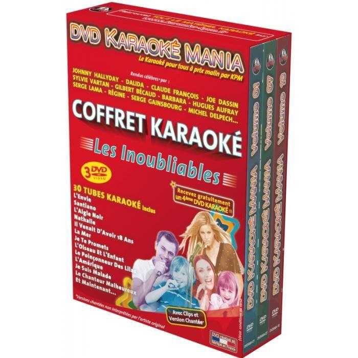 Coffret 3 DVD Karaoké Mania -Les Inoubliables-