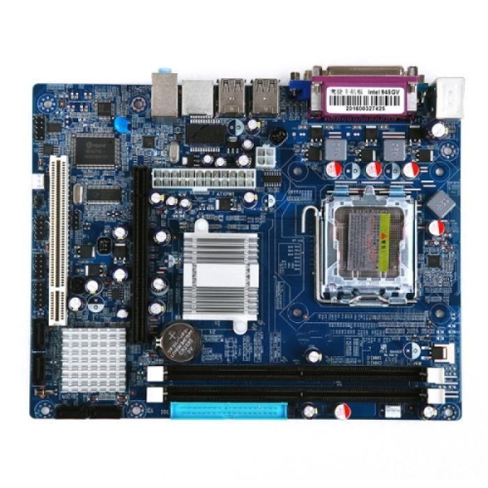 Carte Mere Lga 775 Ddr2 Desktop Computer Motherboard pour Intel 945Gv Chip, Integrated Sound Card Graphics Card Network Card,