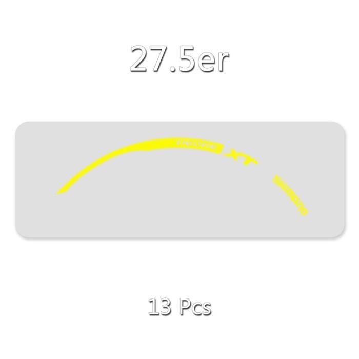 Autocollant de jante-vélo SHIMANO XT M785-VTT autocollant de roue-26er.27.5er.29er applique - Modèle: 27.5er Yellow - UOZXCTZA01782