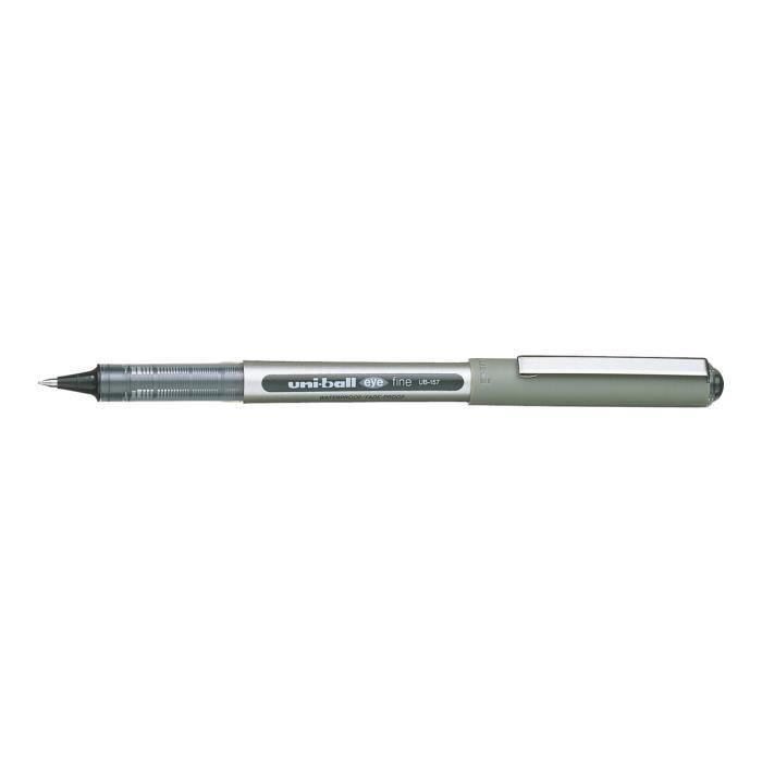 Uni-ball Eye UB-157 Roller noir encre pigmentée à base d'eau 0.7 mm fin pack de 3