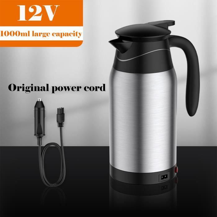12V 1000ml voiture électrique chauffée tasse bouilloire eau tasse en acier voiture chauffage bouilloire - Buonege 630