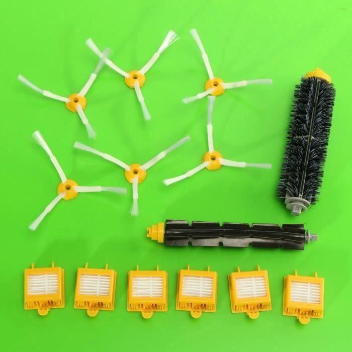 14Pcs Kit Brosse Latéral Filtre Nettoyage Pr iRobot Roomba 700 760 770 780 Serie