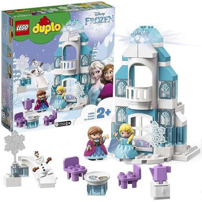 LEGO DUPLO Disney Princess - Le château de la Reine des neiges, Jouet pour Tout-Petits Fille et Garçon dès 2 Ans, 59 Pièces de Co