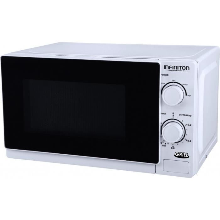 Infiniton MW-1015, Comptoir, 20 L, 700 W, boutons, Rotatif, Blanc, 1000 W
