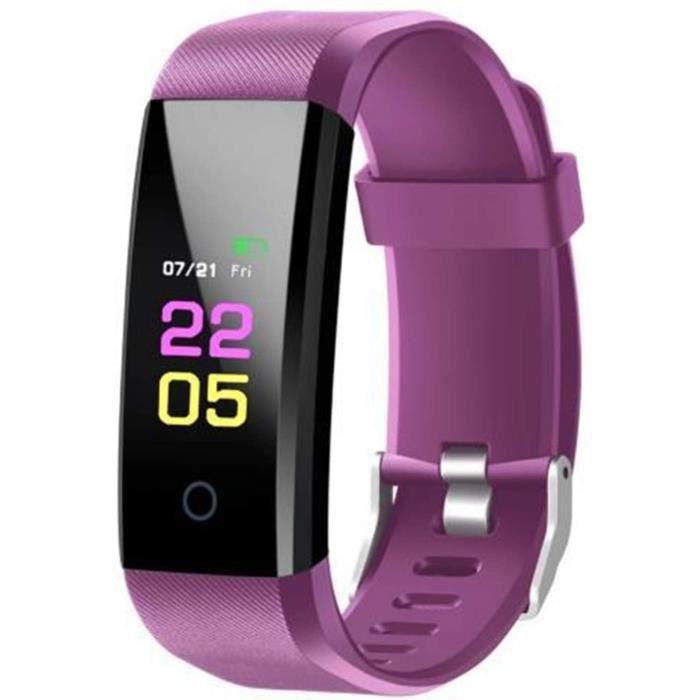 MONTRE CONNECTEE SPORT YNLRY Bracelet de sport Bluetooth unisexe, &eacutecran tactile, fr&eacutequence cardiaque, pression art927