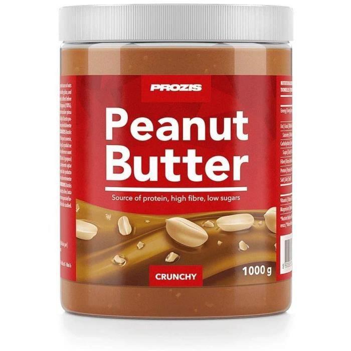 Prozis Beurre de Cacahuète 1 000 g Croquant Texture Délicieuse Source de Protéines Naturelles Convient aux Régimes VégétalienKa 415