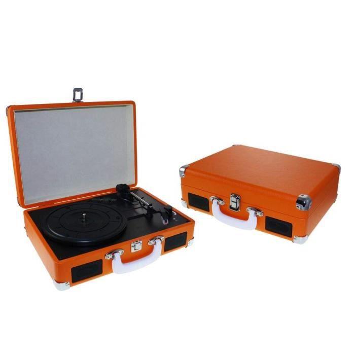 dorex 7983 – Tourne-Disque, Couleur Orange