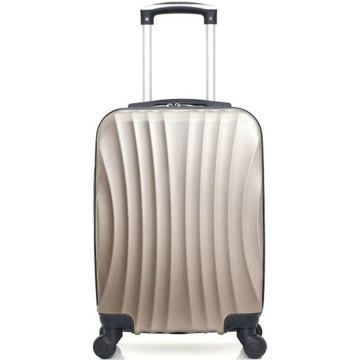 HERO – VALISE CABINE - ABS – 50cm – 4 roues – MOSCOU-A – BEIGE