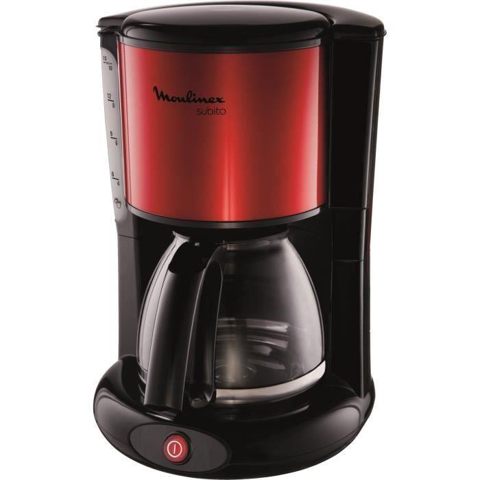 MOULINEX FG360D11 Cafetière filtre classique SUBITO - 10 à 15 tasses - Rouge