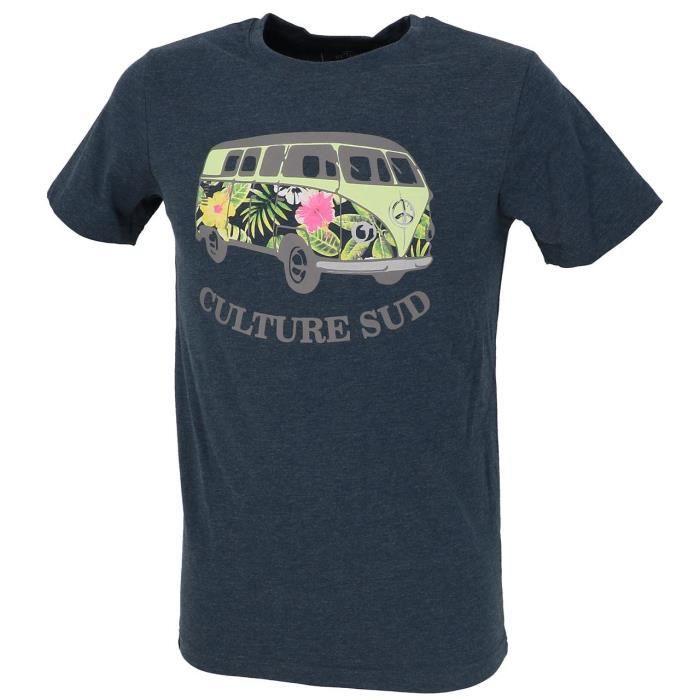 Tee shirt manches courtes Hercule vans tee marine chine - Culture sud