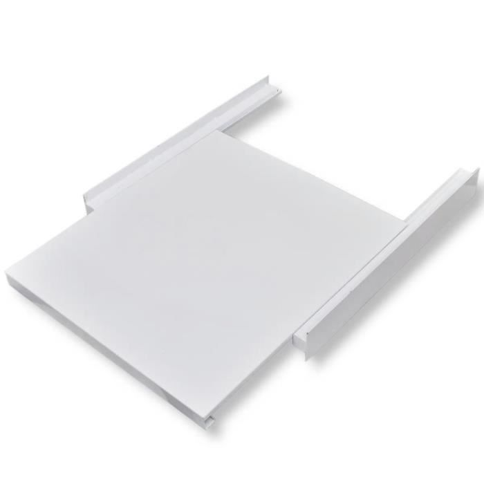 Kit d'empilage avec étagère coulissante pour la machine à laver60 x 60 x 8 cm