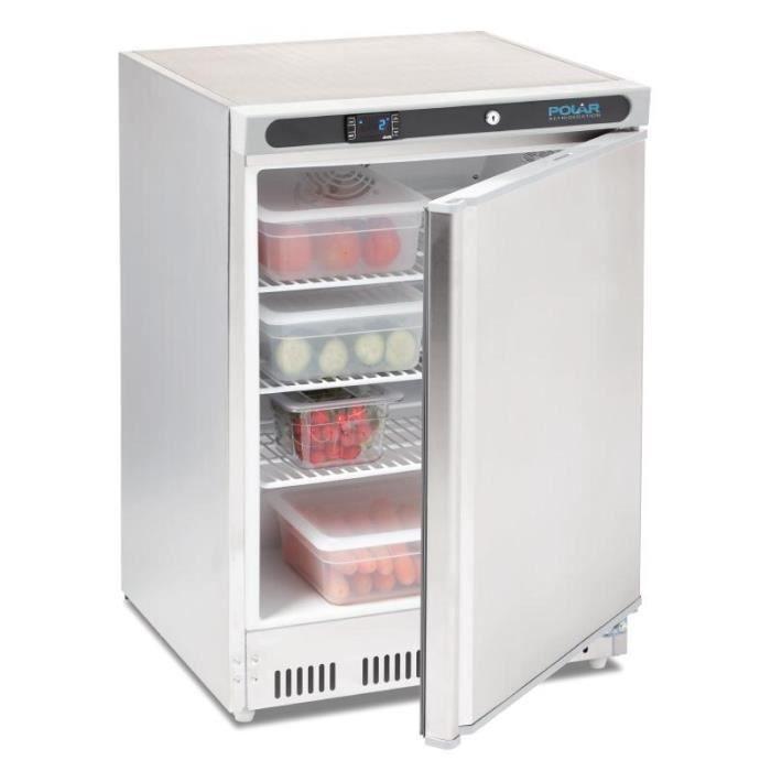 Mini réfrigérateur inox de comptoir 150 Litres