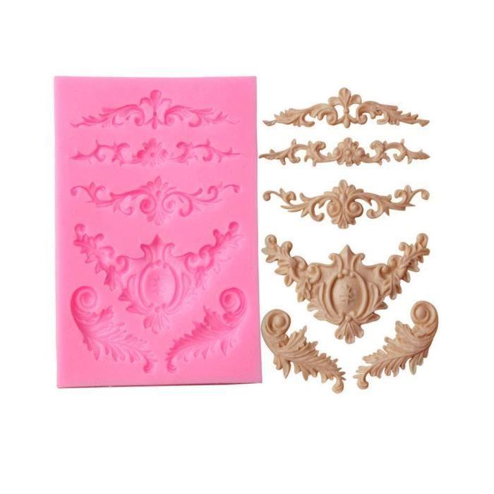 Hermione Hosmer Cuisson Sucre Dentelle Chocolat Moule Silicone Sculpté Fleur Dentelle Bonbons Jello 3D Bricolage