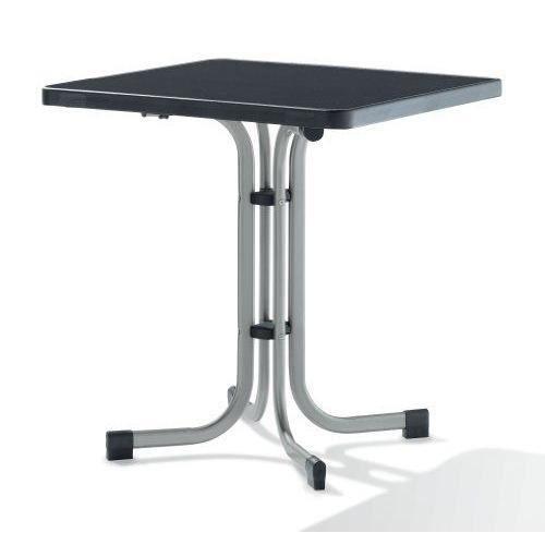 SIEGER Table de Pliante Boulevard Graphite 70 x 70 x 72 cm - 231/A