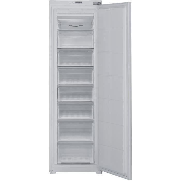 TELEFUNKEN ITC197F - Congélateur armoire - Encastrable - 197L - No Frost - L 54 x H 87.5 cm - Fixation Glissières