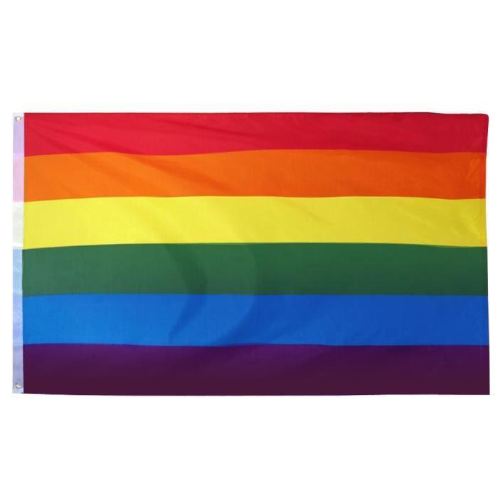 Trixes Intérieur ou extérieur LGBT Rainbow Flag Gay Pride Festival Diversity Celebration 1,5 x 0,9 m