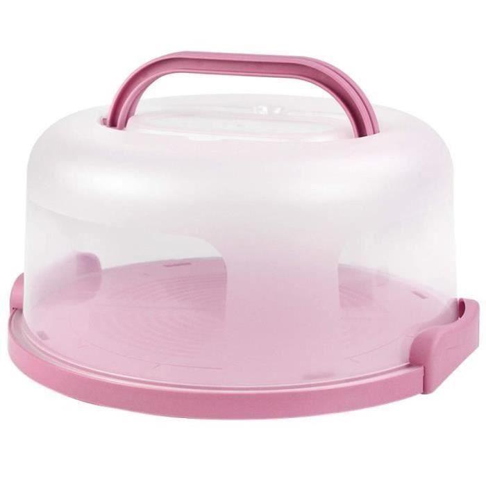 SP32715-Boîte à gâteau Boîte ronde pour pâtisserie Plateau de service Plateau de rangement Support en plastique PP avec 10 pouces