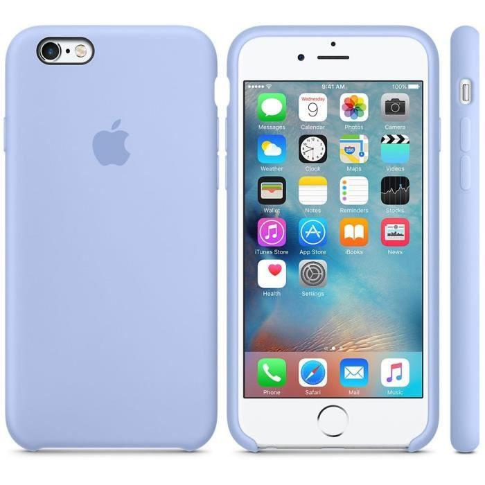 coque apple silicone iphone 6s plus 6 plus lila