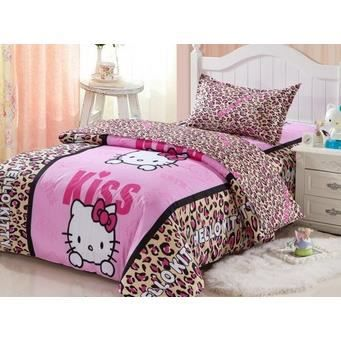 hello kitty 2 parure 3d 1 personne achat vente parure. Black Bedroom Furniture Sets. Home Design Ideas