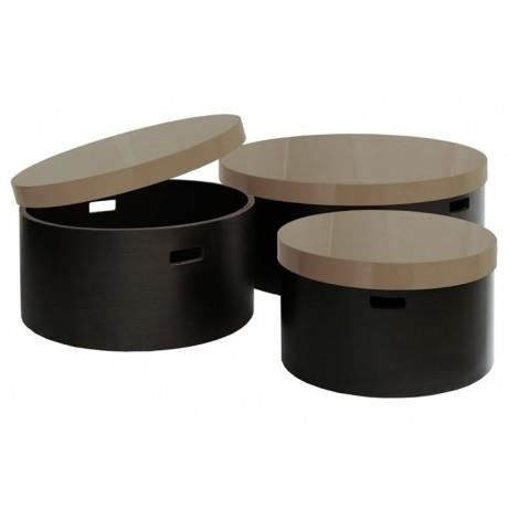 Jardin Pamplemousse Pack 3 Tables Basses Creo Achat Vente