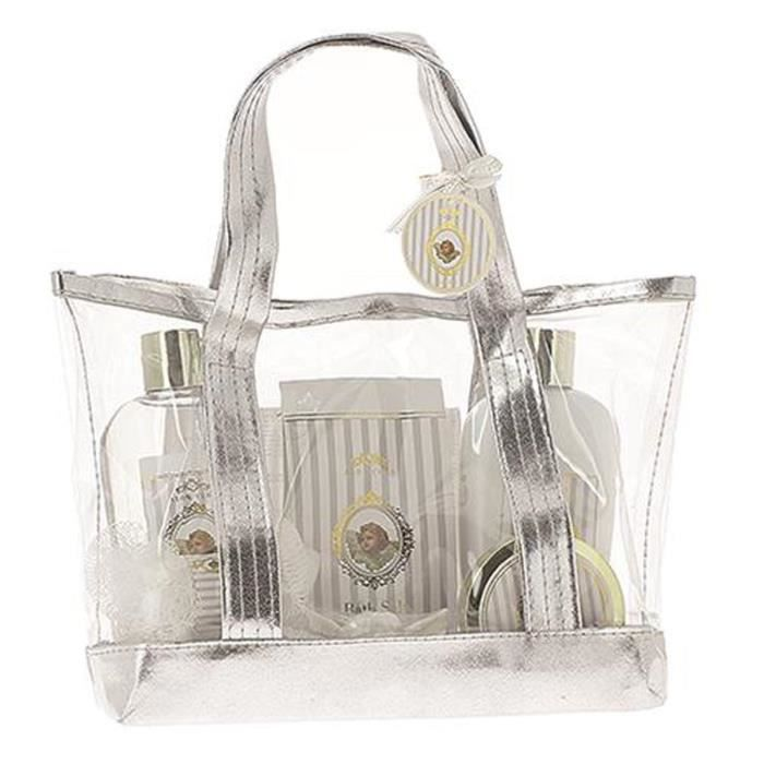 coffret cadeau sac bien tre angel parfum alo v ra ange soins du corps gel douche lotion sels. Black Bedroom Furniture Sets. Home Design Ideas