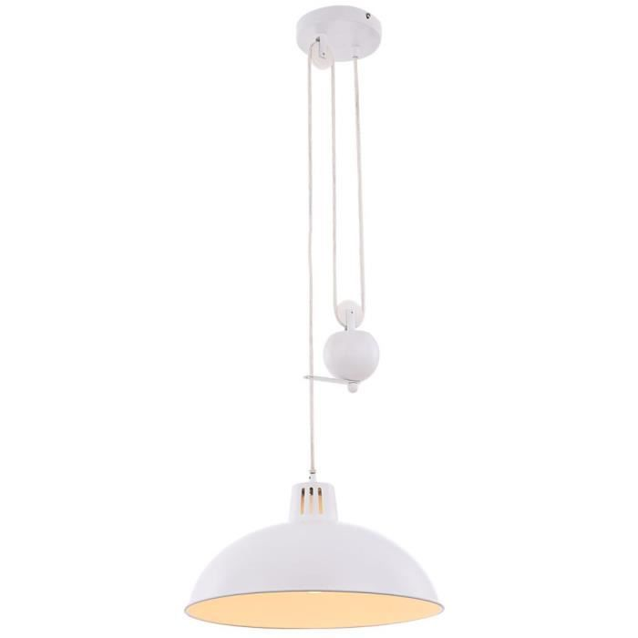 Suspension luminaire lustre lampe hauteur r glable for Lustre ou suspension