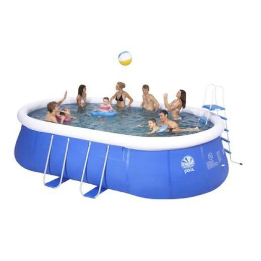 Piscine tubulaire ovale 549x305x107cm achat vente kit for Achat thermopompe piscine