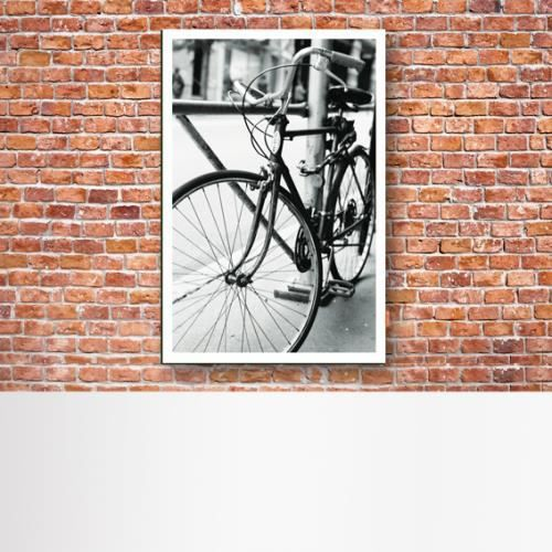 Tableau d co photo noir et blanc argentique paris en v lo plexi transparent 80x120 cm - Deco jardin velo paris ...