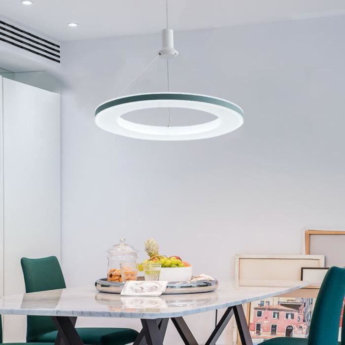 Lampe Suspension Led Modern Anneau Luminaire Suspendu Lustre