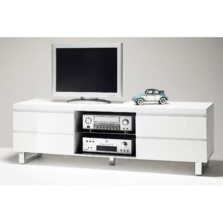 meuble tv design nora ii blanc laqu 170 cm achat vente meuble tv meuble tv design nora ii. Black Bedroom Furniture Sets. Home Design Ideas