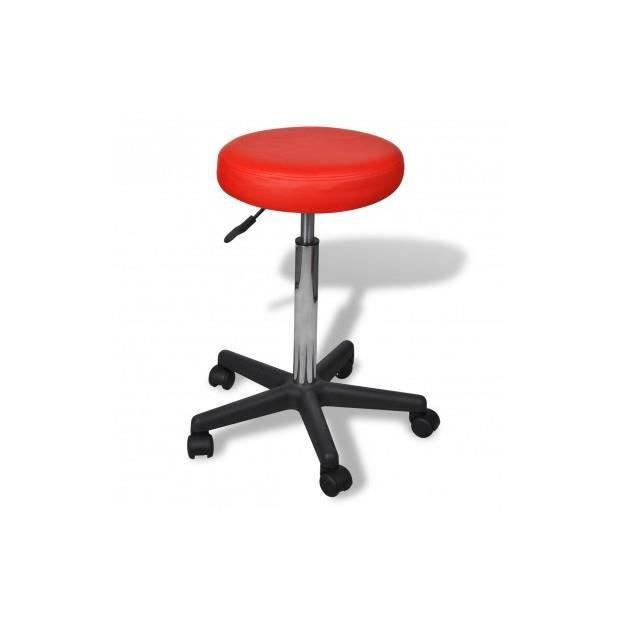 superbe tabouret de bureau rouge achat vente tabouret cdiscount. Black Bedroom Furniture Sets. Home Design Ideas